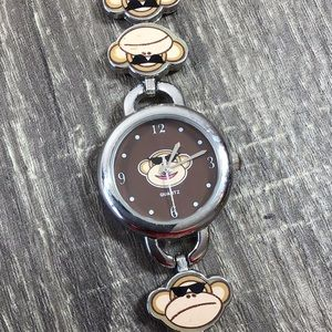 Accutime Jewelry - Accutime Watch Smiley Monkey Face
